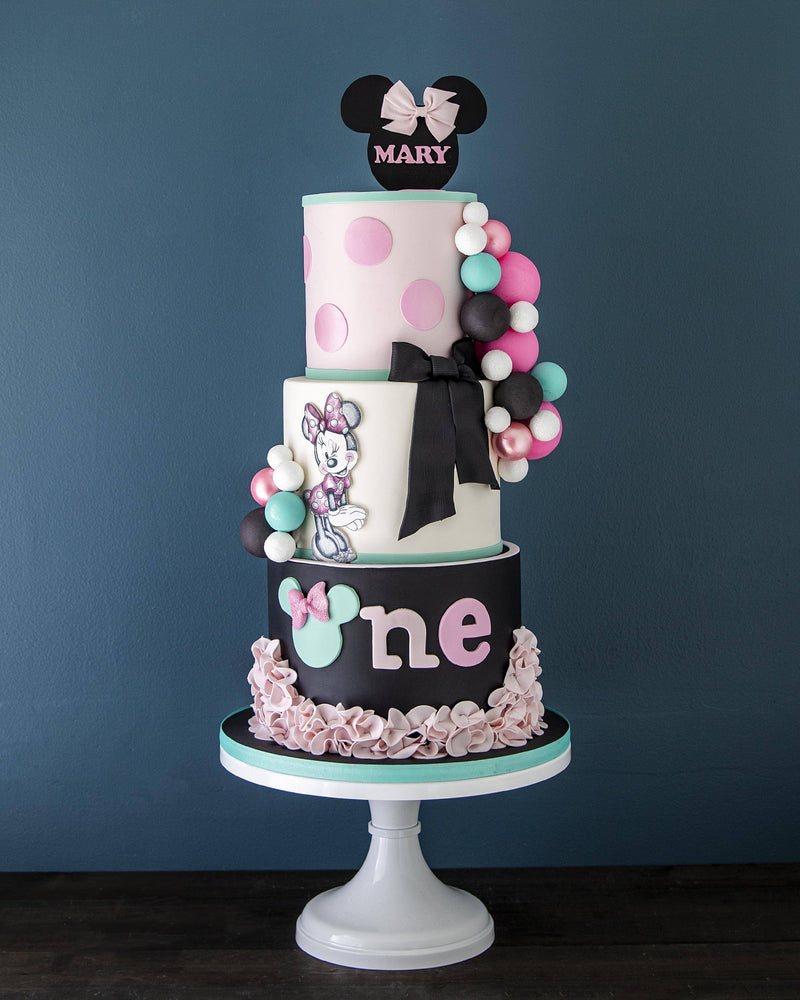 Minnie Mouse First Birthday Elegant Temptations Bakery