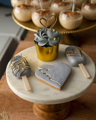 Misty Gold Wedding Elegant Temptations Bakery