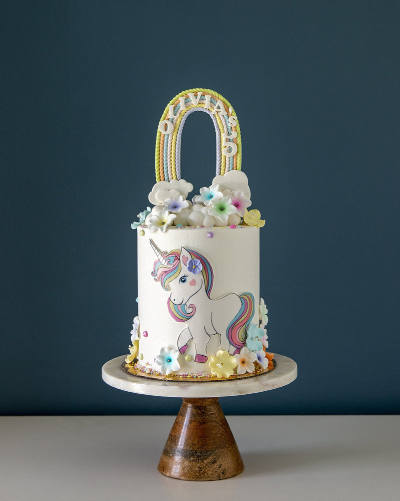 Pastel Unicorn and Rainbow Elegant Temptations Bakery