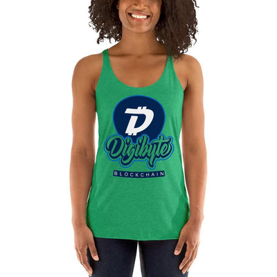 Digibyte Cryptocurrency Women's Racerback Tank