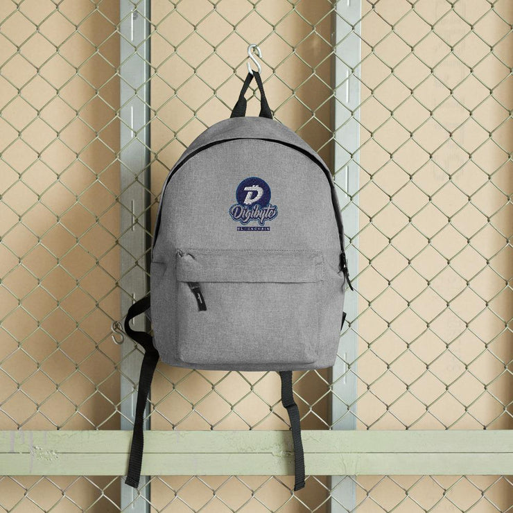 Digibyte Cryptocurrency Embroidered Backpack