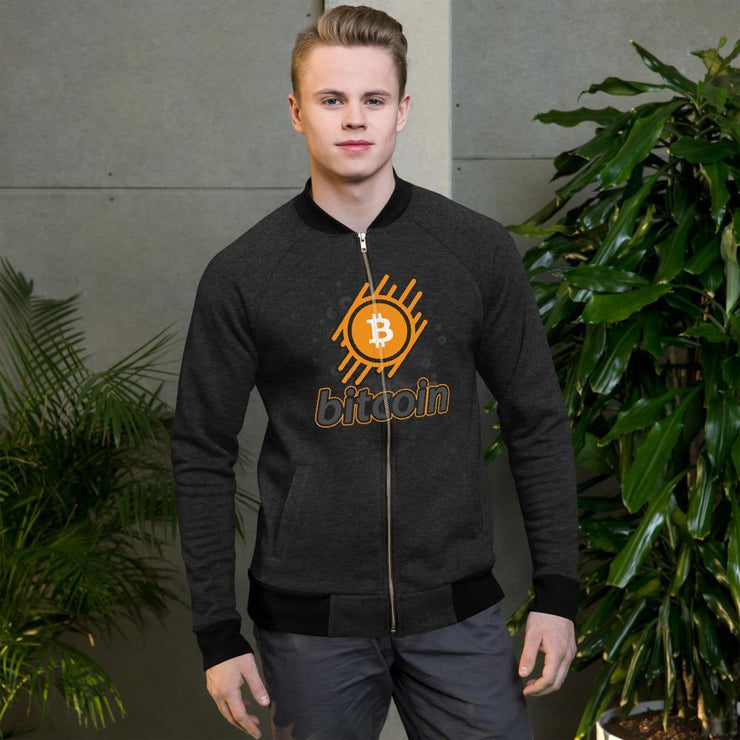 Bitcoin Cryptocurrency Bomber Jacket