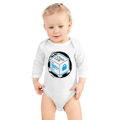 Chainlink Cryptocurrency Infant Long Sleeve Bodysuit