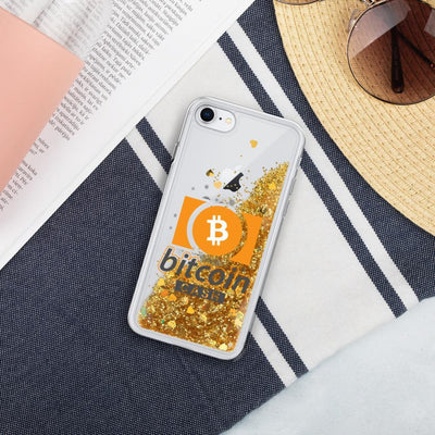 Bitcoin Cash Cryptocurrency Liquid Glitter Phone Case