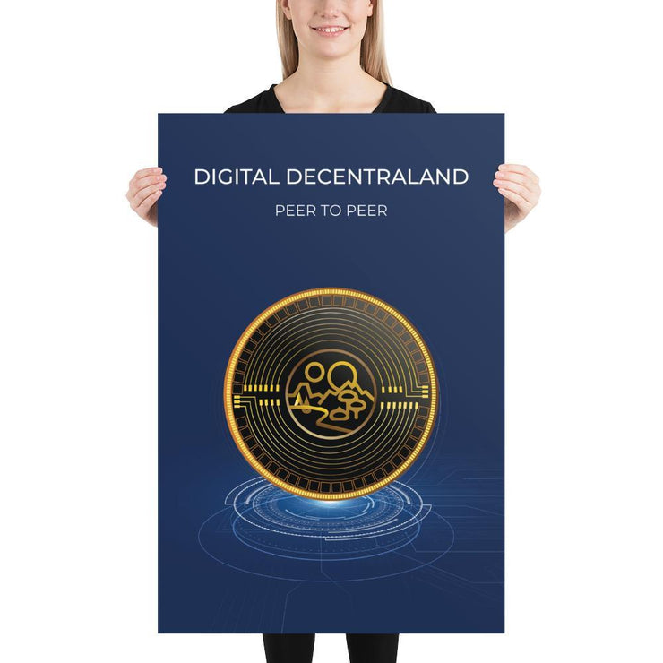 Decentraland MANA Cryptocurrency Poster