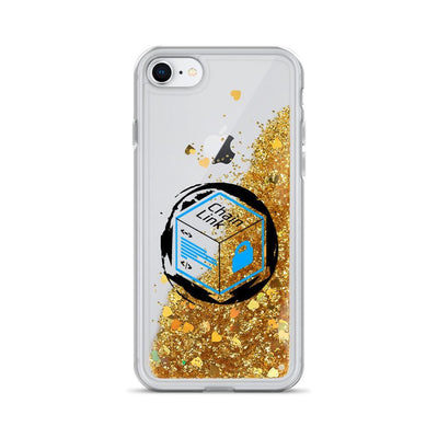 Chainlink Cryptocurrency Liquid Glitter Phone Case