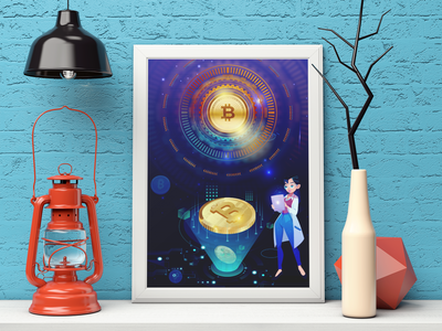 Bitcoin Cryptocurrency Framed poster
