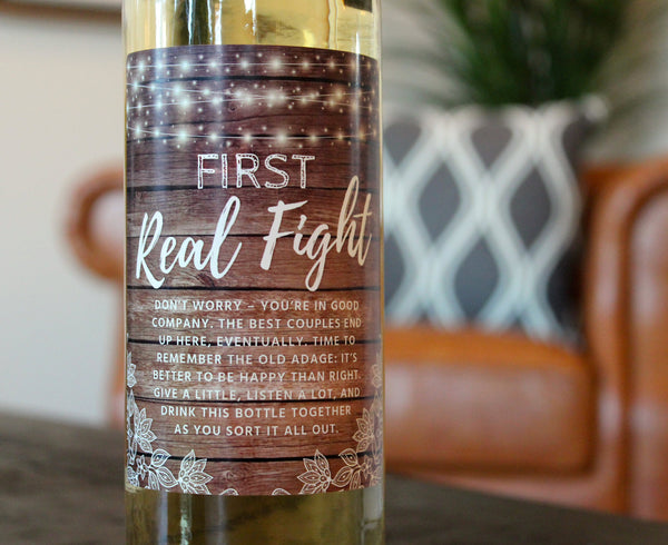 Rustic Wine Bottle Labels for Wedding Gift, Wedding Firsts, Perfect Bridal Shower, Engagement Party, Bachelorette Party, or Wedding Gift