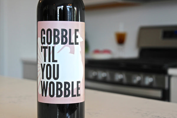 Wine Bottle Labels for Thanksgiving Party Decorations and Favors - Perfect for Friendsgiving Party and Gifts for Family and Friends