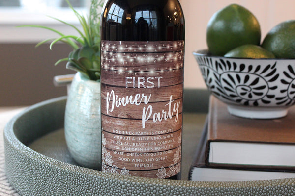 6 Rustic Housewarming Gifts for New Home, New Homeowner Wine Label Gift Set, Unique Real Estate Gifts From Agent For Client Congratulations