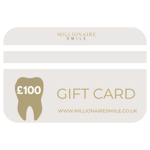 Millionaire Smile Gift card £100 to spend on Teeth whitening. Gift teeth whitening sets & kits.