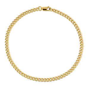 Medium Curb Chain Bracelet - Gold