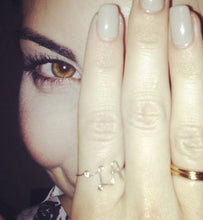 Bri Cuoco wearing the LA gold fill ring.