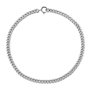 Small Curb Chain Bracelet - Shiny Silver