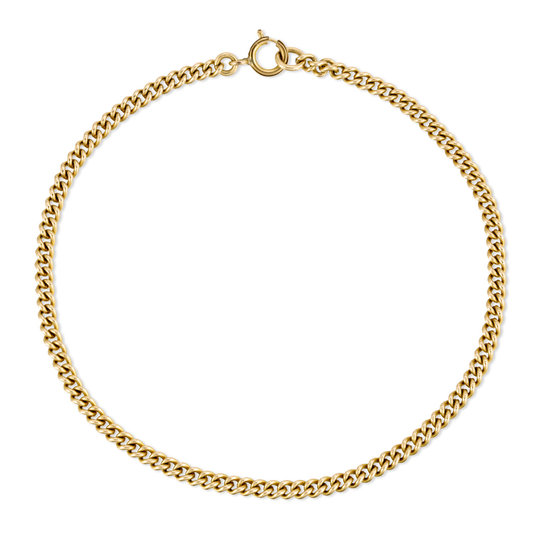 Small Curb Chain Bracelet - Gold