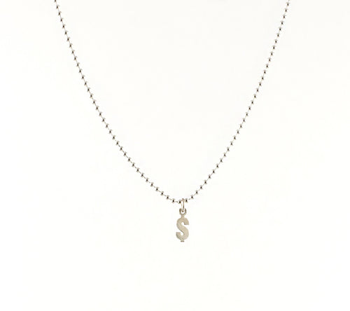 Dolla$ Charm Ball Chain Necklace