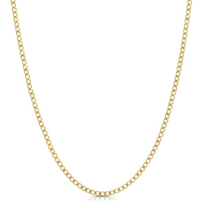 Mini Curb Chain Necklace - Gold