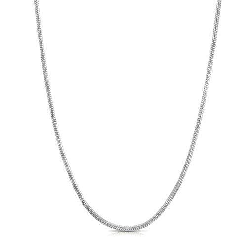 Snake Chain Necklace - Silver