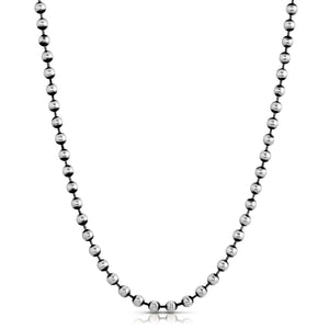 Ball Chain Necklace - Silver