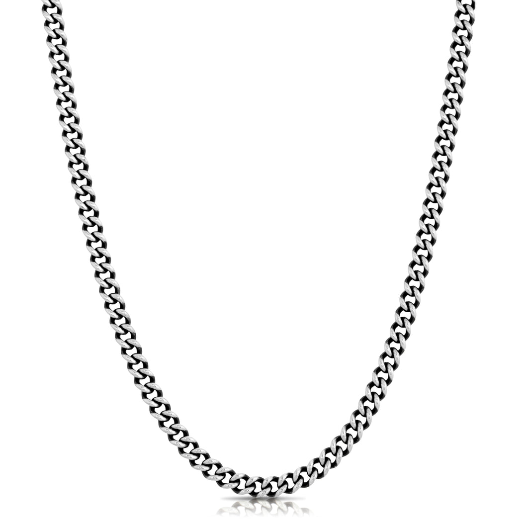Small Curb Chain Necklace - Silver