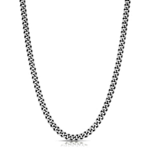 Medium Curb Chain Necklace - Silver