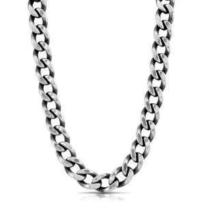 Large Curb Chain Necklace - Silver