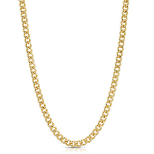 Medium Curb Chain Necklace - Gold
