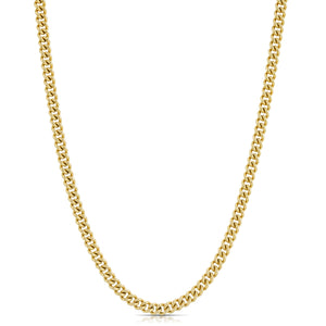 Small Curb Chain Necklace - Gold