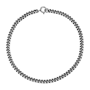 Medium Curb Chain Bracelet - Silver