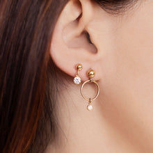 Crystal Mini Knocker Earring Set - Gold