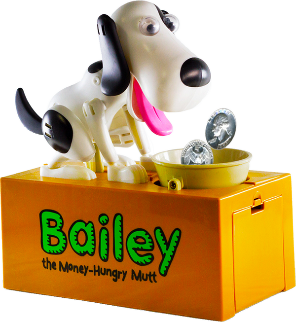 "BAILEY "" the money hungry mutt "" Bank"