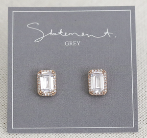 "Statement Grey ""ATHENS"" Earrings"