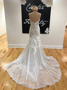 Allure Lace & Beaded Fit & Flare Gown