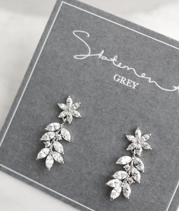 "Statement Grey ""LOTTIE"" Earrings"