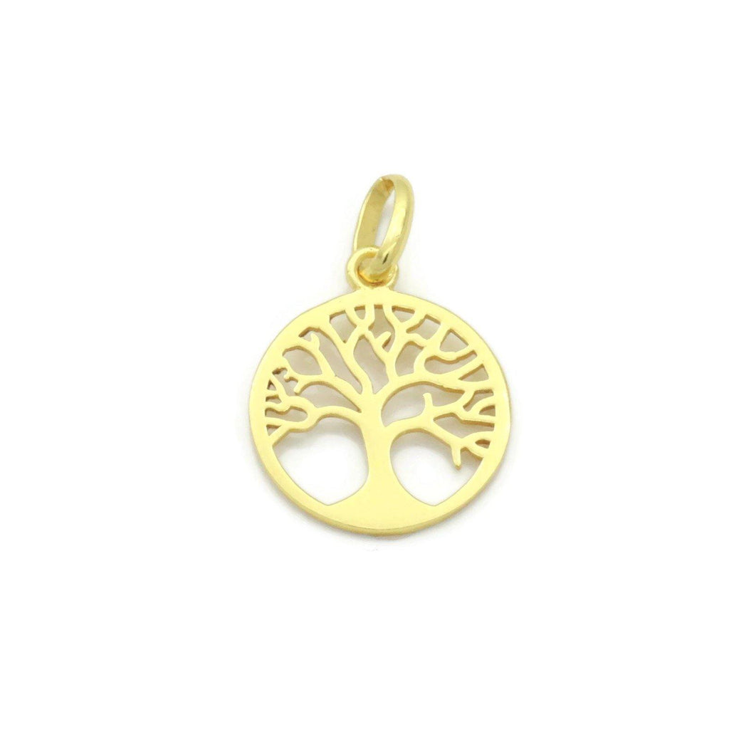 Gold Plated Tree of Life Pendant 925 Silver - Renee Isabella