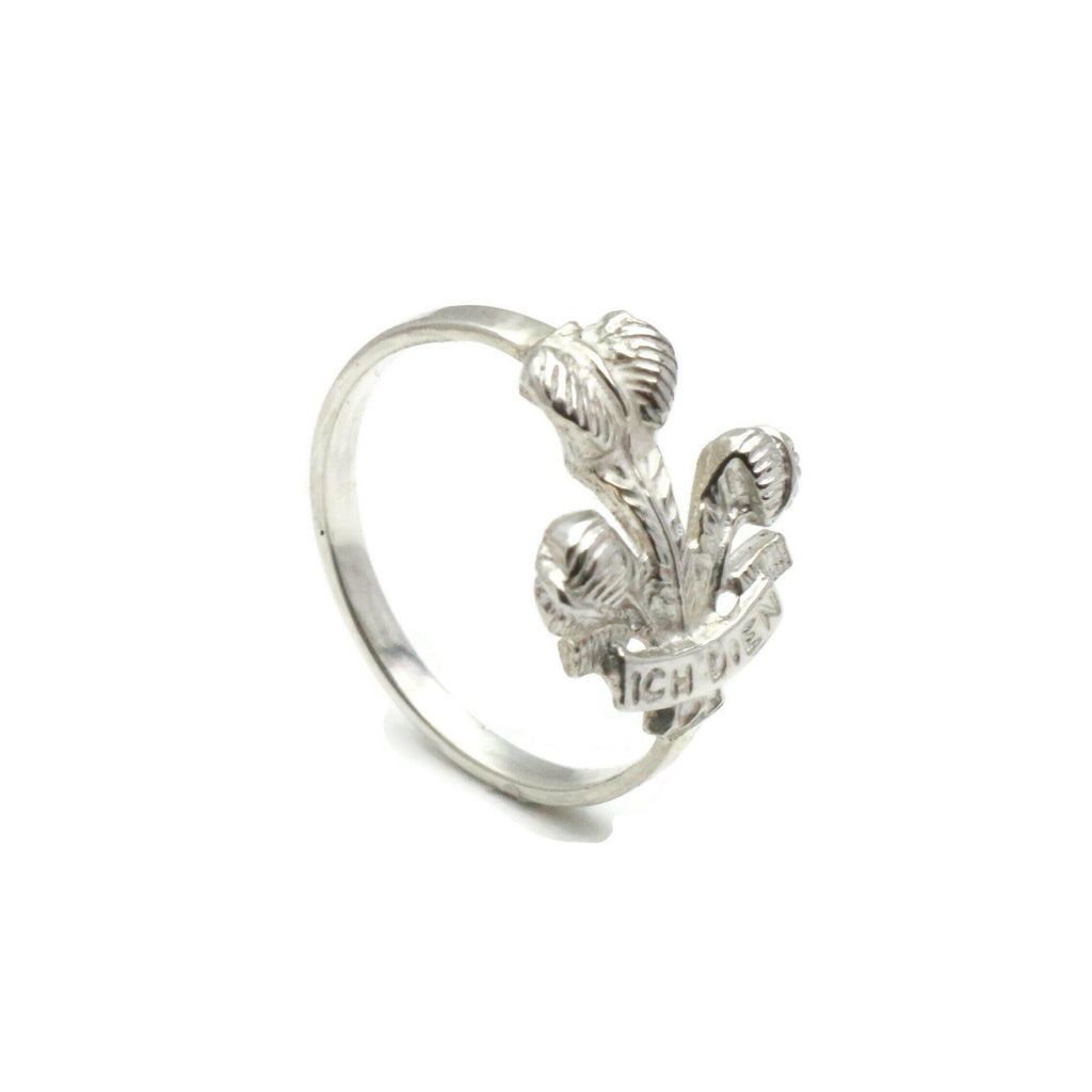 Welsh 3 Feathers Ring 925 Sterling Silver - Renee Isabella