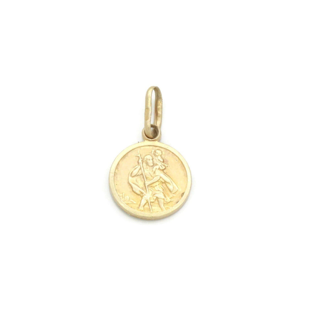 Small St Christopher Pendant 9ct Yellow Gold - Renee Isabella