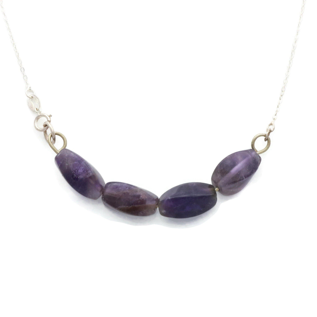 Amethyst Crystal Necklace 925 Sterling Silver - Renee Isabella