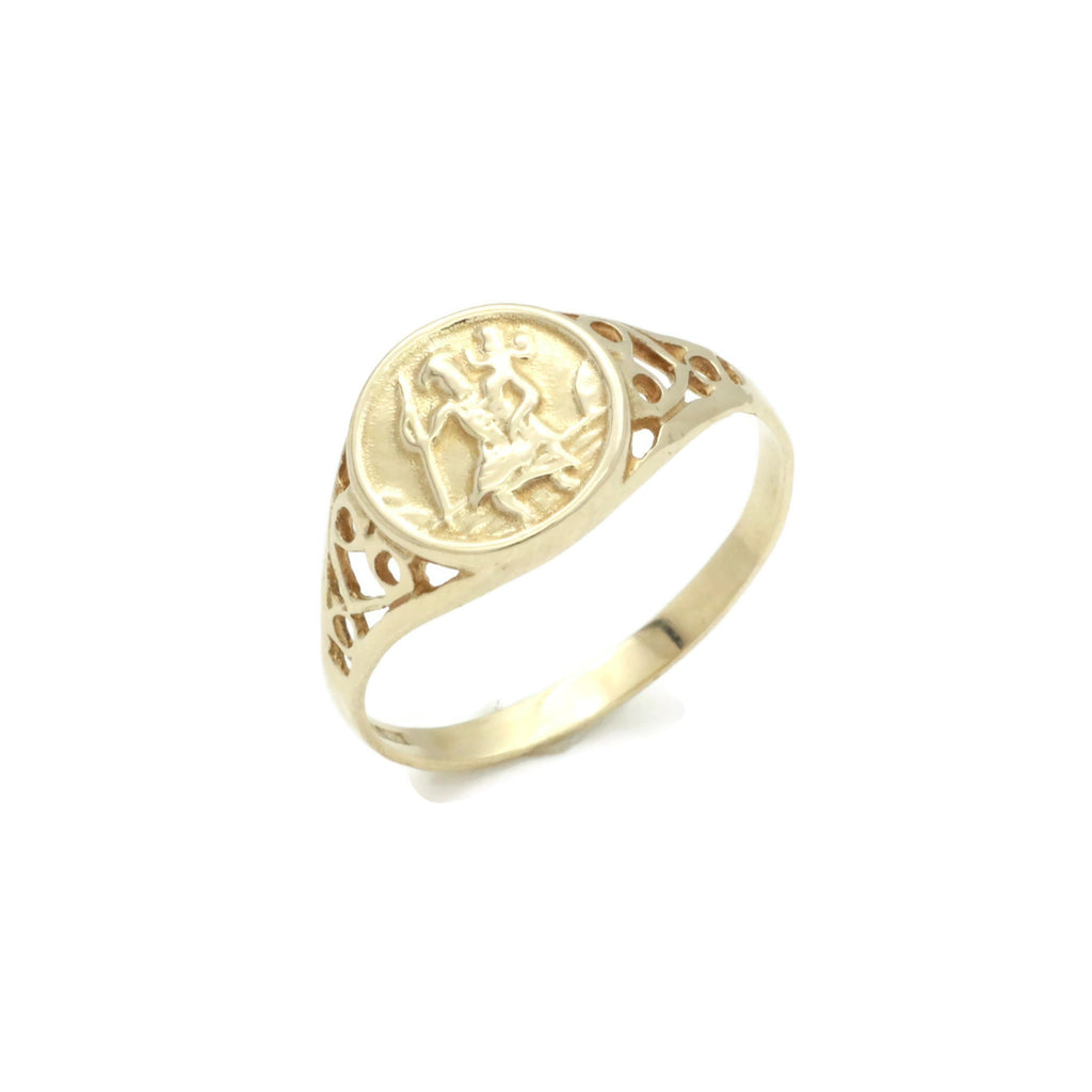 St Christopher Ring 9ct Gold