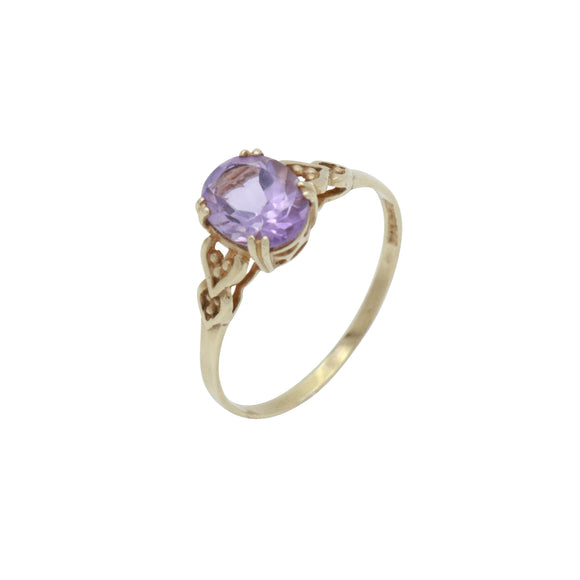 Purple Amethyst Ring, Stacking Ring, Gold Amethyst Ring, Solitaire Amethyst, February Birthstone, Promise Ring, 9ct Amethyst Ring, Engagement Ring, Gemstone Ring, Vintage Ring, Amethyst Jewellery, Statement Ring, Birthstone Ring