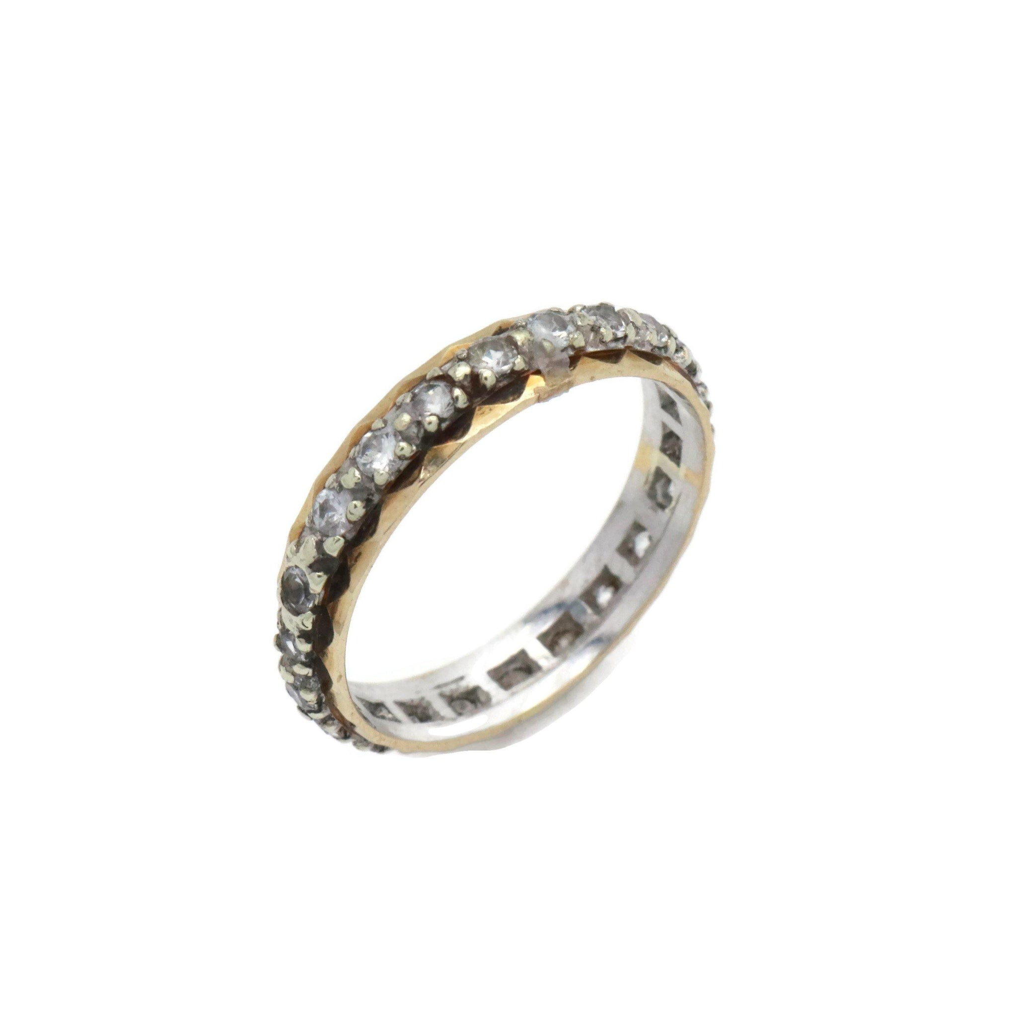 Cubic Zirconia Eternity Ring 9ct Yellow Gold
