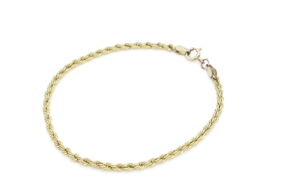 Vintage Rope Bracelet 9ct Yellow Gold