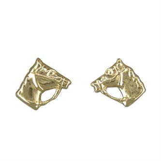 Horse Stud Earrings 9ct Yellow Gold