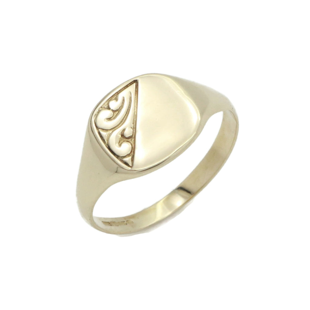 Square Cushion Signet Ring 9ct Yellow Gold