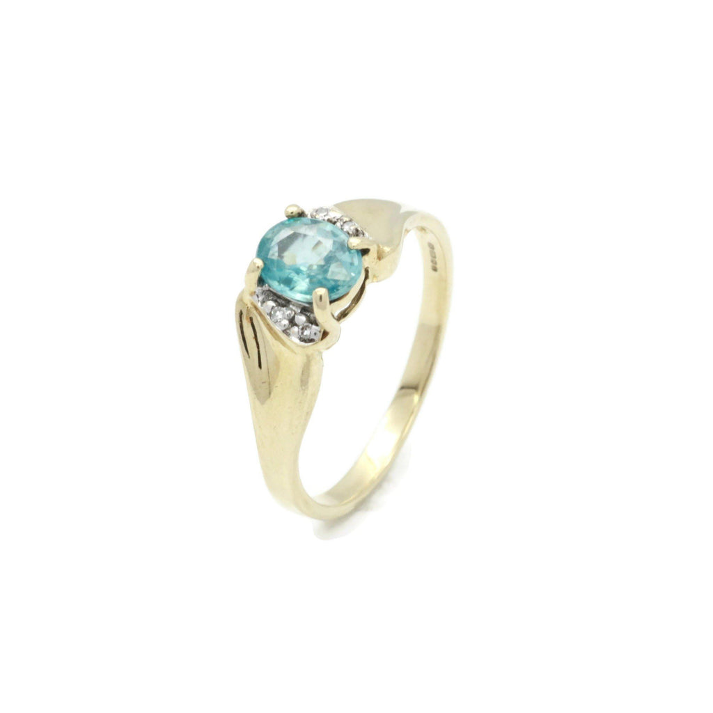 Blue Topaz Ring Universal Gold