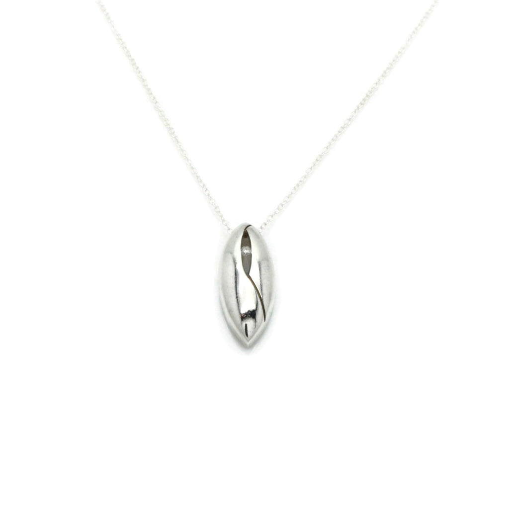 Diamond Drop Pendant 925 Sterling Silver - Renee Isabella