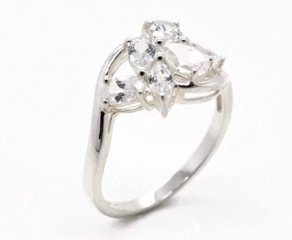 Cubic Zirconia Ring 925 Sterling Silver