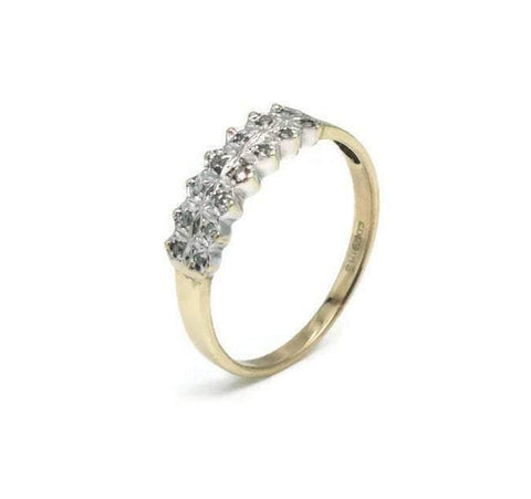 Diamond Paved Ring 9ct Yellow Gold