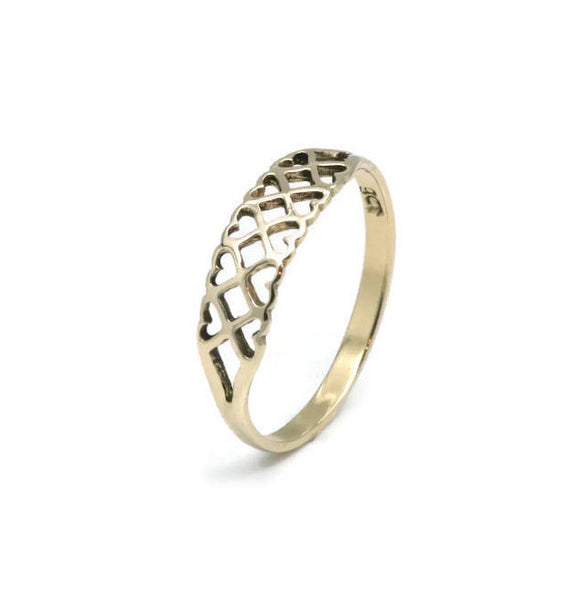 Heart Ring 9ct Yellow Gold