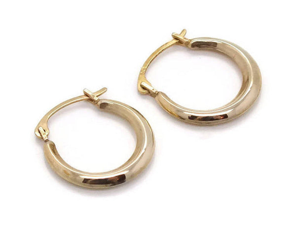 Small Gold Hoop Earrings 9ct Yellow Gold